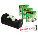 3 Rollen Klebeband Scotch® Magic™ + Tischabroller, gratis